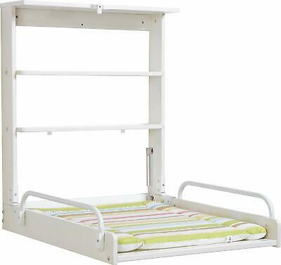 Wall diaper changer with folding mattress Color White Roba Practico