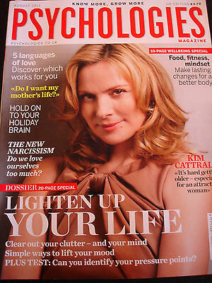 PSYCHOLOGIES MAGAZINE Aug 2011 Kim Cattrall