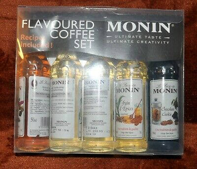 MONIN Coffee Syrup Gift Set 5 X 50ml