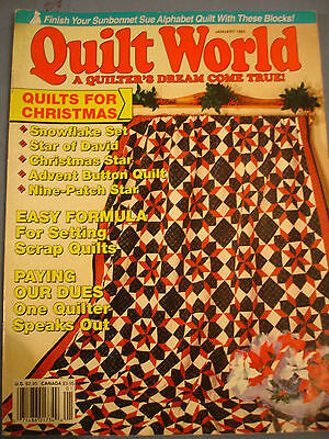 Quilt world Magazine jan 1992 - Quilts for Christmas