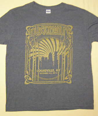 Louder Than Life Music Festival T-Shirt Louisville KY 2014 Gray size L