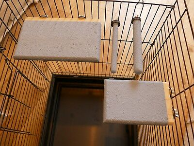 double sided pedicure platforms and perches ideal for small/medium bird