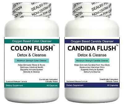 Colon Cleanser Gut Detox Pills IBS Candida Digestive System Bloating Cleanse Aid