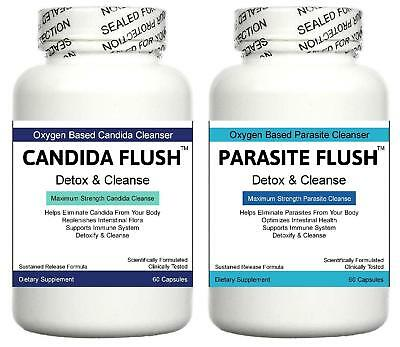 Candida Cleanser Gut Detox Pills IBS Parasites Digestive System Cleanse Aid