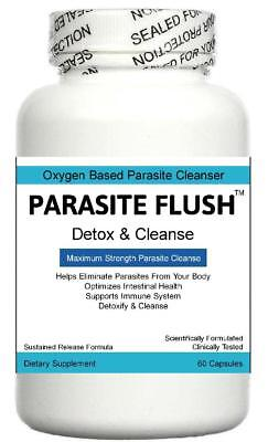 Parasite Flush Detox Colon Liver Cleanse Pills Tablets Detoxification Cleanser