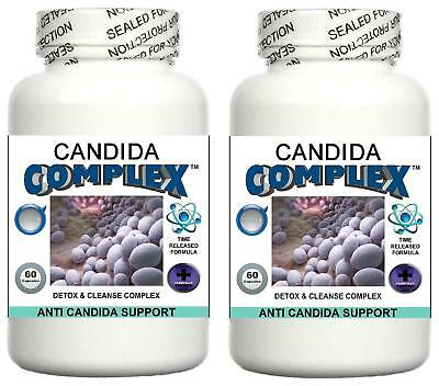 2 Candida Cleanse Pills Yeast Balance Fungus Odor Detox Thrush Digestive System