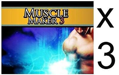 3 Muscle Maker 3 Growth Builder Pills Staxk Tablets For 6 Pack Abs Body Building