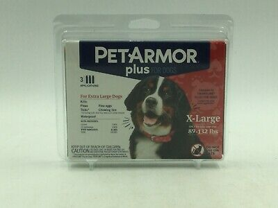 PetArmor Plus Flea & Tick Treatment for Extra Large Dogs, 3 Month Supply
