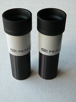 CARL ZEISS JENA Microscope P 6,3x (19) eyepieces pair (d=23,2mm)