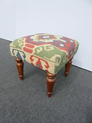 Vintage Southwestern Ottoman Footstool The Bombay Co. ~ French Country