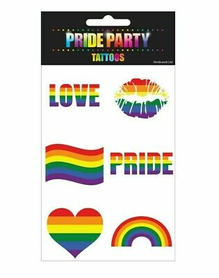 Pride Rainbow Temporary Tattoos