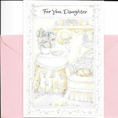Happy Birthday Daughter Pretty Hat Cozy Cat Comfy Chair Hallmark Greeting Card
