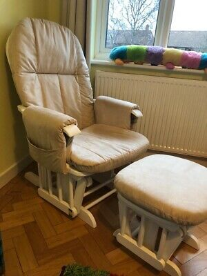 tutti bambini reclining glider chair and stool