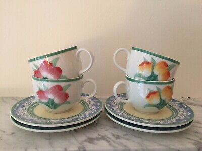 Villeroy & Boch Perugia Cups And Saucers X 4
