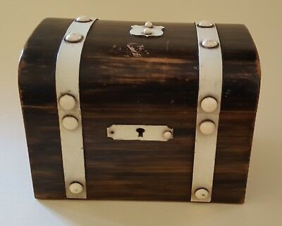 Coromandel wood vintage Victorian antique chest trinket / jewellery box