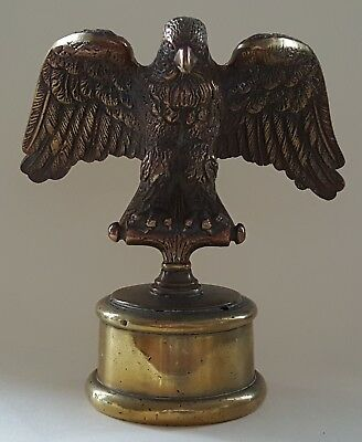 Brass vintage Art Deco antique eagle design car mascot