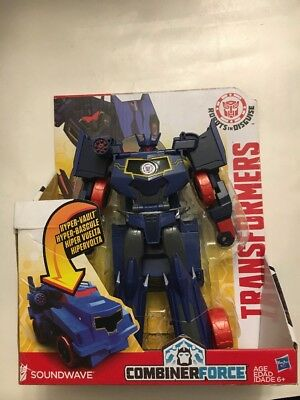 Transformers Robots in Disguise Hyper Change Heroes 3-Step Hyperchange Soundwave