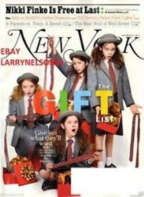 New York  Magazine December 2 2013- The Gift List-The Matildas -New&Unread