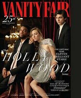 Vanity Fair Magazine 25Th Annual Issue Hollywood 2019-Boseman,ronan&chalamet