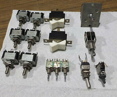 Lot of 15 Toggle Switches - C-H, Carling, Micro Switch, AlCo
