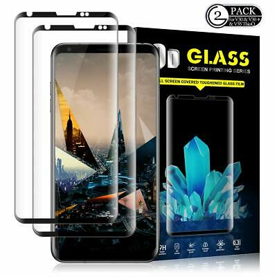 2 Pack 3D Curve Full Coverage Tempered Glass Screen Protector for LG V30+ Plus