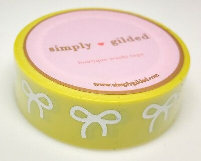 Simply Gilded Washi Tape | Pastel Yellow w/Holo Bows (15 mm) | NIP