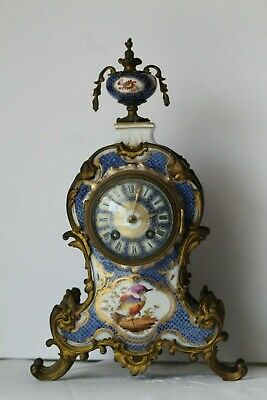 Antique 19thC J.E. Caldwell Probably Worcester Scale Blue Bronze Mantle Clock