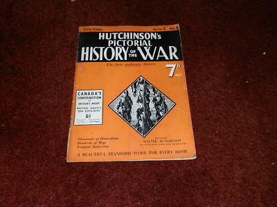 Hutchinson's Pictorial History of the War Series 2 No.8.. CANADA'S CONTRIBUTION