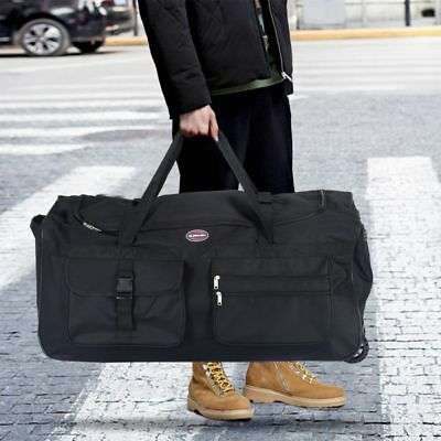 "36"" Rolling Wheeled Tote Duffle Bag Travel Suitcase"