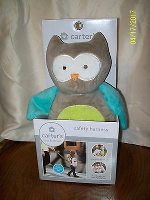 Carter's Safety Harness Owl Plush In Box