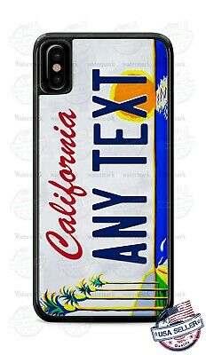 California Art License Plate Personalized Phone Case Cover for iPhone Samsung