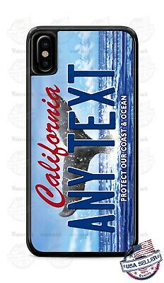 California Protect Ocean License Plate Personalized Phone Case Cover for iPhone