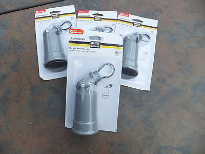 4 Master Electrician Outdoor All Weather Lampholder (Uses PAR 38 Bulbs) Gray