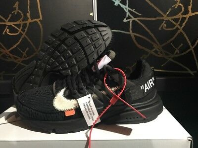 wholesale dealer 72412 a7263 Nike Air Presto OFF-WHITE Black (2018) Size 9 AA3830-002