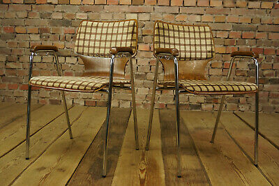 60s Vintage Armchair Designer Chair Desk Chair Stacking Chair 1/6