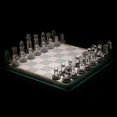 Glass Chess Set For Home & Office Decor Large 35 x 35 cm