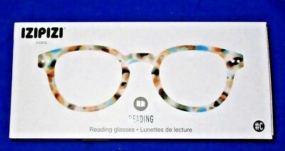 273844d4a608 NEW IZIPIZI -C- READING EYE GLASSES BLUE TORTOISE +1.5 New in Box with