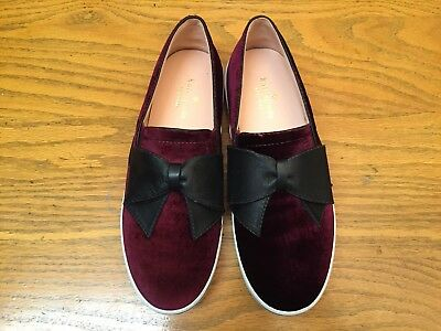 ce9920ea36a6 Kate Spade New York Delise Too Velvet Flat Shoes With Leather Bow New Size  7.5