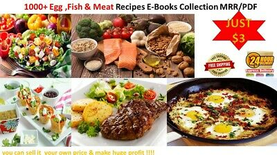 1000+ Egg ,Fish & Meat  Recipes  E-Book Collection  MRR/PDF  Just $0.99