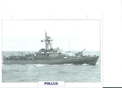 "Collection photos/Le bâtiment dragueur-chasseur de mines "" Pollux""/RFA1960"