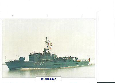 "Collection photos/Le bâtiment dragueur-chasseur de mines "" Koblenz""/ RFA 1957"