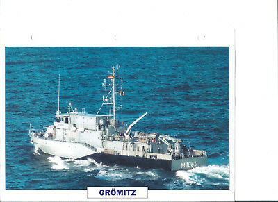 "Collection photos/Le bâtiment dragueur chasseur de mines ""Grömitz ""/ RFA 1993"