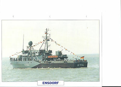 "Collection photos/Le bâtiment dragueur chasseur de mines ""Ensdorf""/RFA 1989"