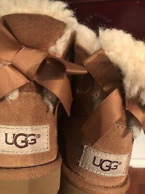 28151d0cdaf UGG AUSTRALIA GIRLS' Bailey Bow Starlight Boots , Red, Toddler Size ...