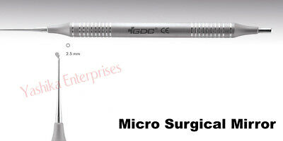 Dental Instrument Tools MICRO SURGICAL MIRRORS Round Mirror # Small (2.5mm) MMRS