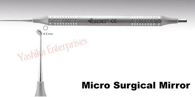 Dental Instrument Tools MICRO SURGICAL MIRRORS Round Mirror # Large (4.5mm) MMR