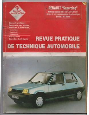 "Revue pratique de technique automobile Renault ""Supercinq"""