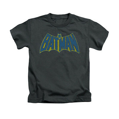 BATMAN SKETCH LOGO Licensed Toddler & Boy Graphic Tee Shirt 2T 3T 4T 4 5-6 7