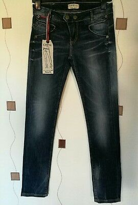 Boys Jeans 26 Stone Washed Distressed Pencil Skinny Fit Chipie New