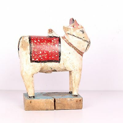 Vintage old wooden cow ox handmade decorative wooden pieces 2555